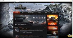 Сайт игры World of Tanks